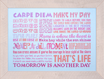 Carpe Diem in cross stitch